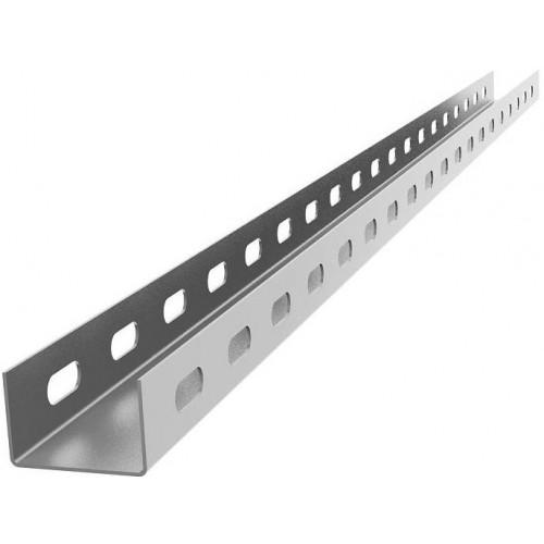 Профиль монтажный оцинкованный U-образный (перфорированный)
