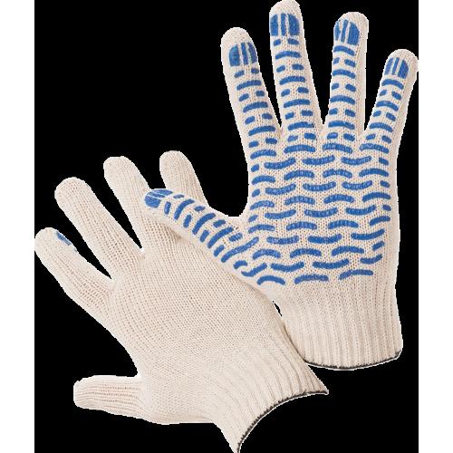 Перчатки х/б + полиэфир с полимерным покрытием